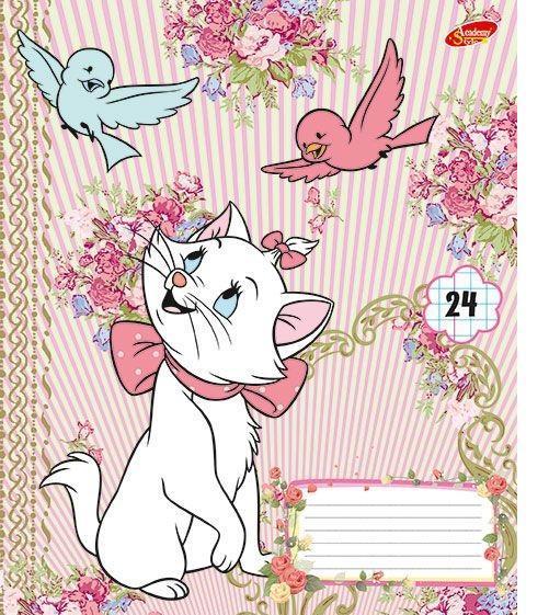 Marie Cat Набор тетрадей в клетку, 24 листа, формат А5, 10 шт124991