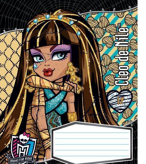 Monster High Набор тетрадей в линейку, 12 листов, формат А 5, 10 шт