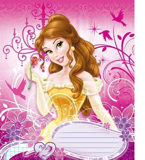 Princess Набор тетрадей в клетку Princess Belle, 12 листов, формат А5, 10 шт125004