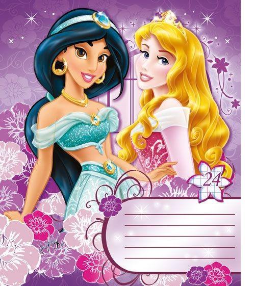 Princess Набор тетрадей в клетку, 24 листа, формат А5, 10 шт