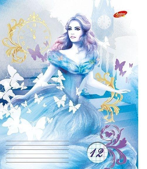 Academy Style Набор тетрадей в линейку Cinderella, 12 листов, формат А5, 10 шт125008
