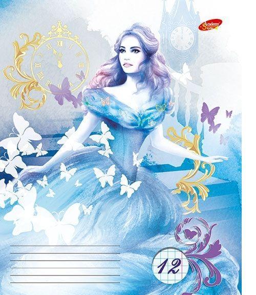 Academy Style Набор тетрадей в клетку Cinderella, 12 листов, формат А5, 10 шт125003