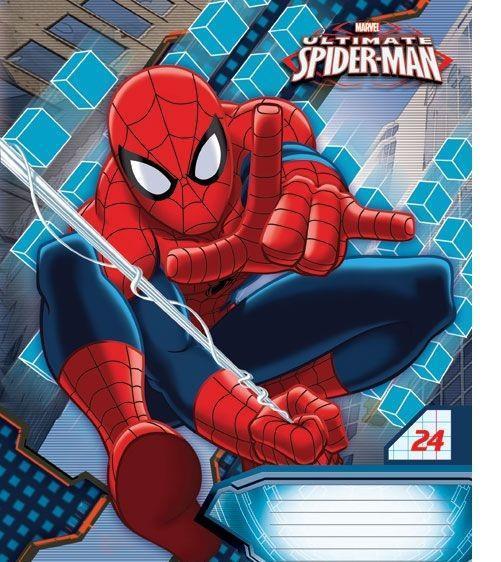 Spider-Man Набор тетрадей в линейку, 24 листа, формат А5, 10 шт124998