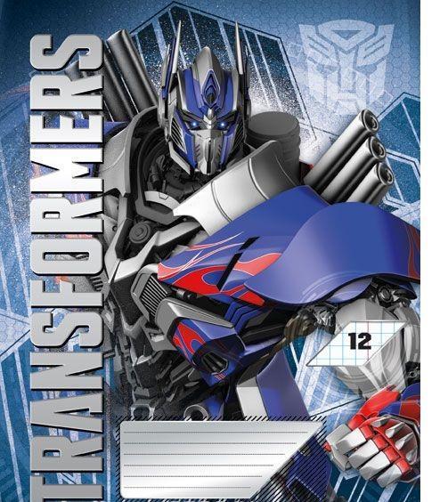 Transformers Набор тетрадей в линейку, 12 листов, формат А5, 10 шт125031