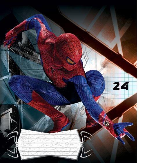 Spider-Man Набор тетрадей в клетку, 24 листа, формат А5, 10 шт124997