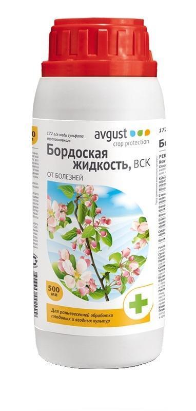 Бордоская жидкость Avgust, от болезней, 500 мл96002999Бордоская жидкость (объем 500 мл) предназначена для защиты плодовых, овощных, ягодных, бахчевых, цитрусовых, декоративных, цветочных и других культур от комплекса болезней. Совместим с большинством пестицидных препаратов. Бордоская жидкость защищает от парши, монилиоза, коккомикоза, плодовой гнили и различных пятнистостей. Легка в применении. Российская компания Август является крупнейшим производителем химических средств для защиты растений сельскохозяйственного производства, а также для владельцев личных подсобных хозяйств и дачников. В компании создана самая современная производственная база и мощный научный центр. Ассортимент продукции, выпускаемой компанией, насчитывает более 50 наименований высококачественных и технологичных препаратов. Специализированная пестицидная компания Август подтвердила качество выпускаемой продукции требованиями трех международных стандартов.