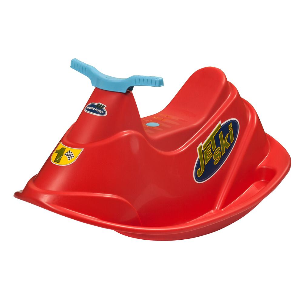 PalPlay Качелька Водный мотоцикл, цвет: красный331Яркие качели PalPlay Водный мотоцикл обеспечат вашему ребенку массу положительных эмоций во время катания. Веселая качалка выполнена из прочного пластика в виде водного скутера с удобным сидением, рулем и подставками для ног для обеспечения дополнительной безопасности малышей. К качелям прилагаются яркие наклейки. Качели идеально подходят для игры на открытом воздухе во время летнего отдыха.