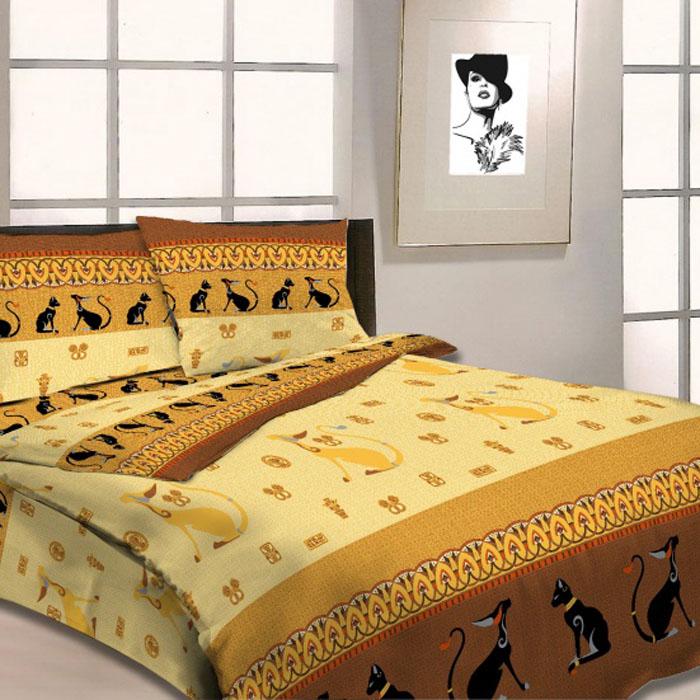 Комплект белья Letto Египетские кошки, дуэт, наволочки 70х70. B18-4B18-4Комплект постельного белья Letto Египетские кошки выполнен из бязи (100% натурального хлопка). Комплект состоит из пододеяльника, простыни и двух наволочек. Постельное белье оформлено ярким красочным рисунком. Гладкая структура делает ткань приятной на ощупь, мягкой и нежной, при этом она прочная и хорошо сохраняет форму. Ткань легко гладится. Благодаря такому комплекту постельного белья вы сможете создать атмосферу роскоши и романтики в вашей спальне. Плотность: 125 г/м2.