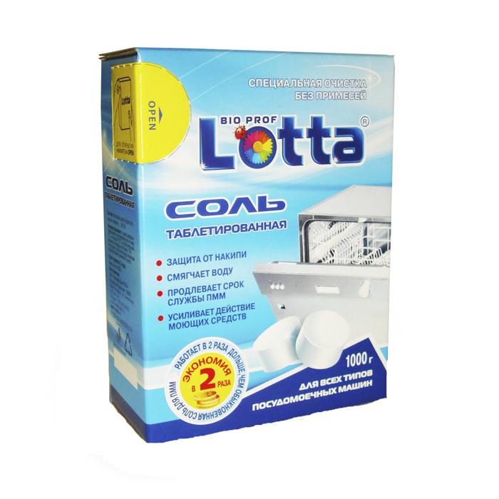 Соль таблетированная для посудомоечных машин Lotta, 1000 г16218Отложения извести могут негативно отразиться на работе посудомоечной машины. Соль применяется для регенерации ионообменных смол и предупреждения образования накипи в посудомоечных машинах. Таблетированная соль Lotta обеспечивает высокую эффективность умягчения воды в посудомоечной машине и более чем в два раза экономичнее обычной гранулировано соли при использовании. Соль продлевает срок службы посудомоечной машины. Благодаря своей формуле и твердости, соль обеспечивает высокую эффективность и экономичный расход средств в процессе смягчения воды и придания блеска чистой посуде. Подходит для всех типов посудомоечных машин. Состав: массовая доля хлористого натрия не менее 99,7%. Товар сертифицирован.