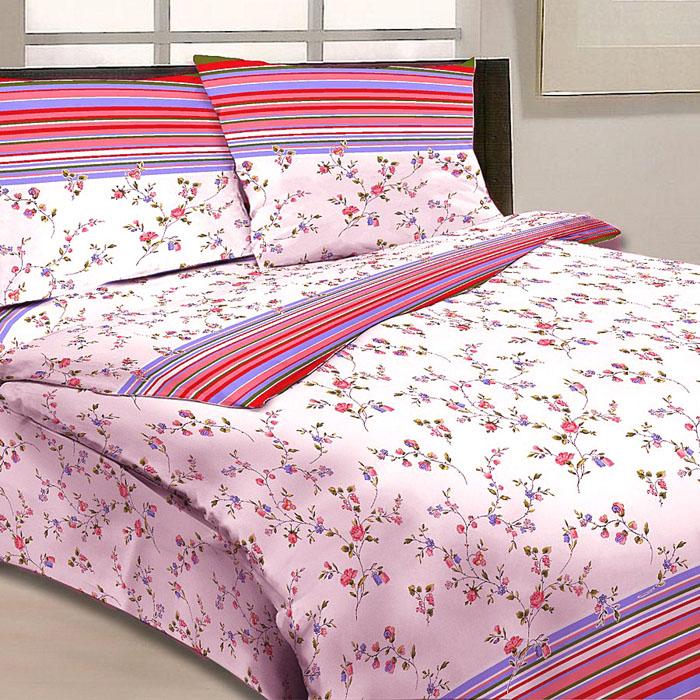 Комплект белья Letto, 2-спальный, наволочки 70х70, цвет: бело-розовый. B13-4B13-4Серия «Традиция» от Letto – это возможность купить оптом недорогое постельное белье, выполненной из классической российской бязи, знакомой многим домохозяйка. Не смотря на то, что на смену бязи пришли более комфортные ткани для постельного белья, такие как сатин и перкаль, бязь продолжает оставаться одним из самых востребованных продуктов на текстильном рынке России, благодаря своим потребительским свойствам и доступной цене. Для производства серии «Традиция» используется российская бязь, плотностью 125гр/м, с применением устойчивых импортных красителей и печати с новомодным эффектом 3D. Коллекция отшивается в традиционных размерах 1.5-cп, 2,0–сп. и евро размере с нав-ками 70*70.