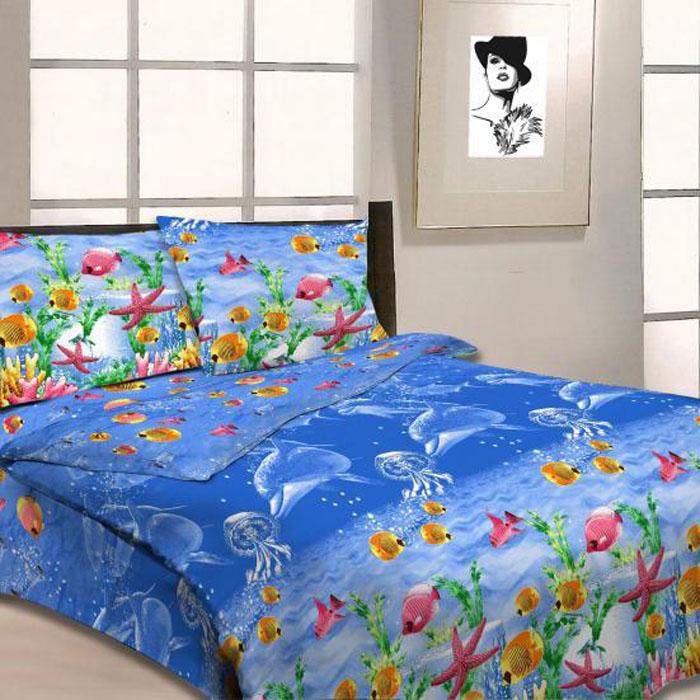 Комплект белья Letto, 2-спальный, наволочки 70х70, цвет: синий. B11-4