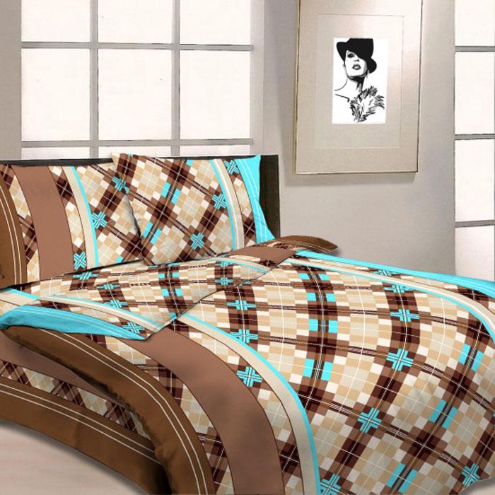 Комплект белья Letto, 1,5-спальный, наволочки 70х70, цвет: коричневый. B03-3B03-3Серия «Традиция» от Letto – это возможность купить оптом недорогое постельное белье, выполненной из классической российской бязи, знакомой многим домохозяйка. Не смотря на то, что на смену бязи пришли более комфортные ткани для постельного белья, такие как сатин и перкаль, бязь продолжает оставаться одним из самых востребованных продуктов на текстильном рынке России, благодаря своим потребительским свойствам и доступной цене. Для производства серии «Традиция» используется российская бязь, плотностью 125гр/м, с применением устойчивых импортных красителей и печати с новомодным эффектом 3D. Коллекция отшивается в традиционных размерах 1.5-cп, 2,0–сп. и евро размере с нав-ками 70*70.