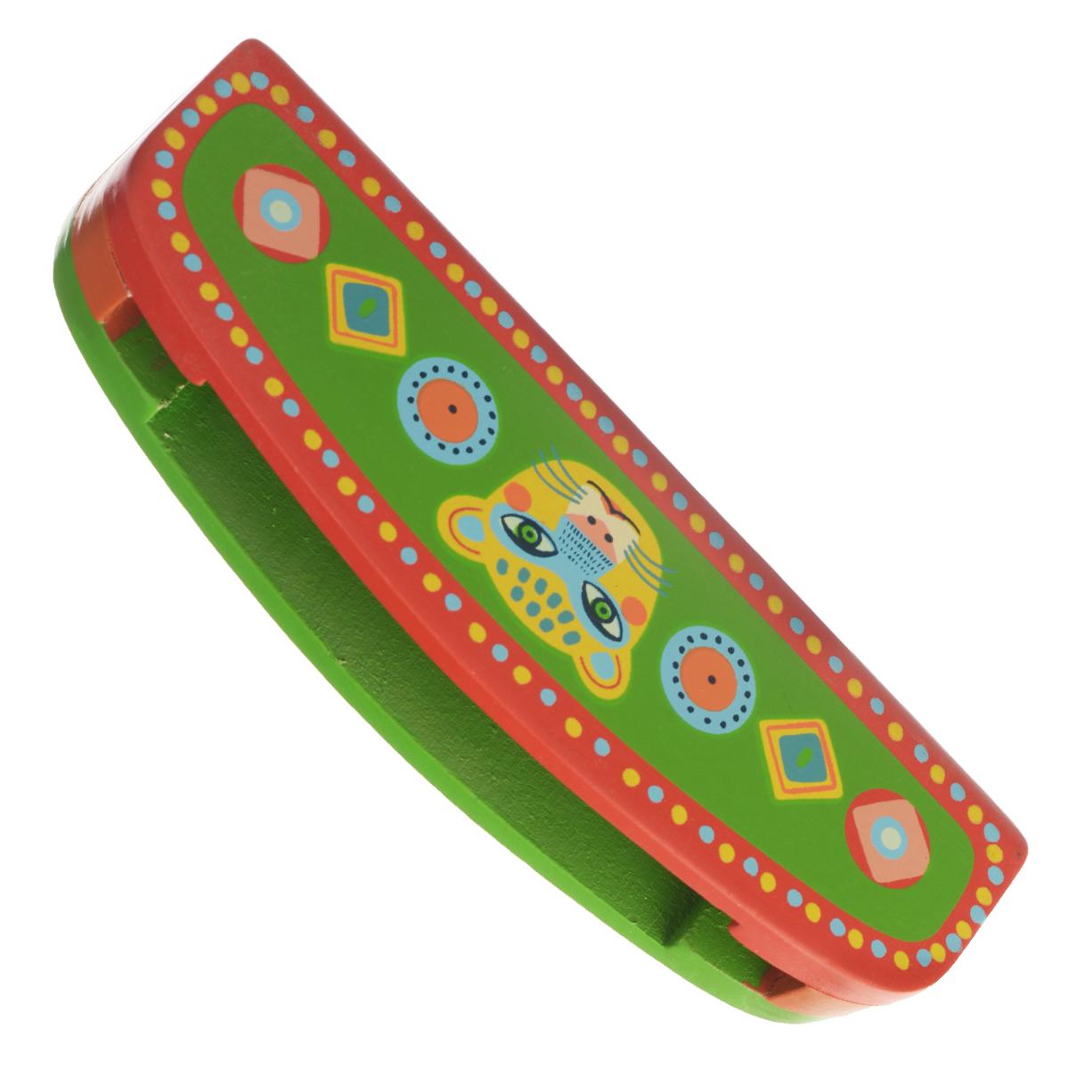 Djeco Губная гармошка Animambo, цвет: зеленый, красный06011