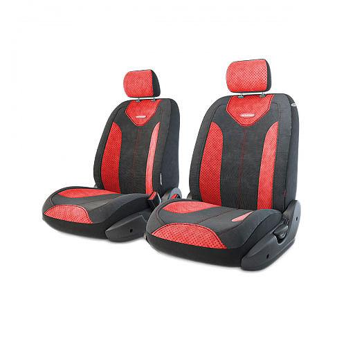 Авточехлы Autoprofi Трансформер Comfort, цвет: черный, красный, 6 предметов