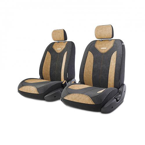 Авточехлы Autoprofi Трансформер Comfort, цвет: черный, бежевый, 6 предметовTRS/COM-001 BK/L.BEЧехлы Autoprofi Трансформер Comfort - новая модель автомобильных чехлов. Главной особенностью их стала модульная конструкция, благодаря которой можно укомплектовать 5-, 7- или 8-местный автомобиль. Запатентованная конструкция чехлов с молниями и торцевыми клапанами позволит их адаптировать в автомобилях с любым кузовом - седана, минивена, кроссовера, внедорожника или универсала. При этом специальные клапаны закрывают торцы спинок и подлокотников, позволяя их складывать и обеспечивая плотное прилегание даже на нестандартных креслах. Немаловажно, что данная серия чехлов на автомобильное сиденье оснащена распускаемым боковым швом, что позволяет их использовать в автомобилях с боковой подушкой безопасности. Спинка и боковые части автомобильного чехла сделаны из велюра. Из прежних наработок, полюбившихся автомобилистам, в данных чехлах сохранилось крепление крючками и липучками, которые прочно фиксируют чехлы на сиденье. Чехлы для переднего ряда серии Трансформер...