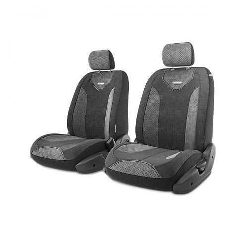 Авточехлы Autoprofi Трансформер Comfort, цвет: черный, темно-серый, 6 предметовTRS/COM-001 BK/D.GYЧехлы Autoprofi Трансформер Comfort - новая модель автомобильных чехлов. Главной особенностью их стала модульная конструкция, благодаря которой можно укомплектовать 5-, 7- или 8-местный автомобиль. Запатентованная конструкция чехлов с молниями и торцевыми клапанами позволит их адаптировать в автомобилях с любым кузовом - седана, минивена, кроссовера, внедорожника или универсала. При этом специальные клапаны закрывают торцы спинок и подлокотников, позволяя их складывать и обеспечивая плотное прилегание даже на нестандартных креслах. Немаловажно, что данная серия чехлов на автомобильное сиденье оснащена распускаемым боковым швом, что позволяет их использовать в автомобилях с боковой подушкой безопасности. Спинка и боковые части автомобильного чехла сделаны из велюра. Из прежних наработок, полюбившихся автомобилистам, в данных чехлах сохранилось крепление крючками и липучками, которые прочно фиксируют чехлы на сиденье. Чехлы для переднего ряда серии Трансформер...