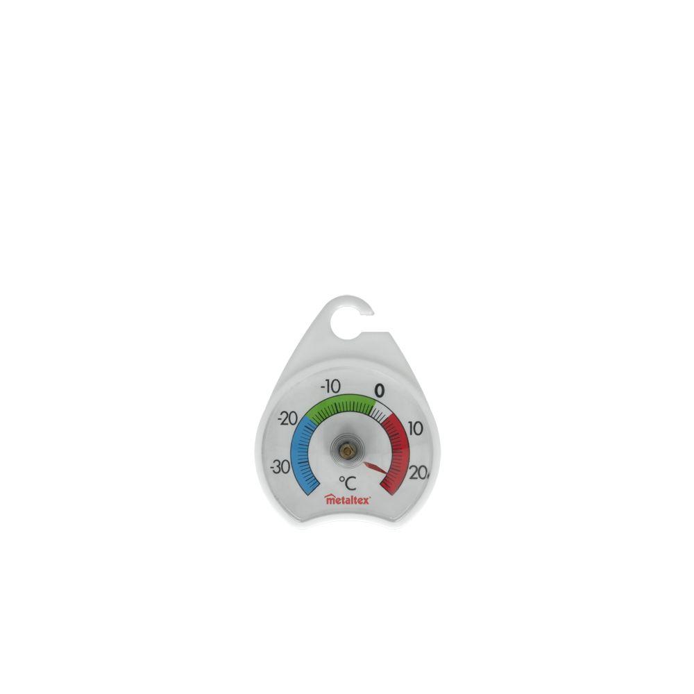 Термометр Metaltex Glacio, для холодильников, цвет: белый, 5 см х 7 см29.80.41Термометр Metaltex Glacio выполнен из пластика и оснащен шкалой с крупными цифрами. Он предназначен для измерения температуры воздуха в холодильнике и морозильной камере. Экологически безопасный термометр - не содержит ртуть. Размер термометра: 5 см х 7 см.