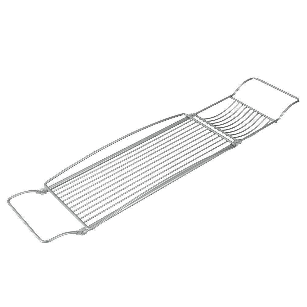 Полка на ванну Metaltex Reflex, раздвижная, 2 отделения40.42.04Навесная полка Metaltex Reflex, выполненная из стали c уникальным политермическим покрытием Polytherm, предназначена для ванны. Покрытие Polytherm значительно продлевает срок службы изделий, это покрытие ударопрочное, на нем не образуются царапины и ржавчина. Полка имеет 2 отделения разного размера. Подвешивается на борта ванны. Длину полки можно регулировать. Такая полка пригодится для хранения различных принадлежностей, которые всегда будут под рукой. Размер полки: 66-85 см х 15,5 см х 5 х см. Размер большого отделения: 38,5 см х 15,5 см х 3,5 см. Размер малого отделения: 12 см х 15,5 см х 1,5 см.