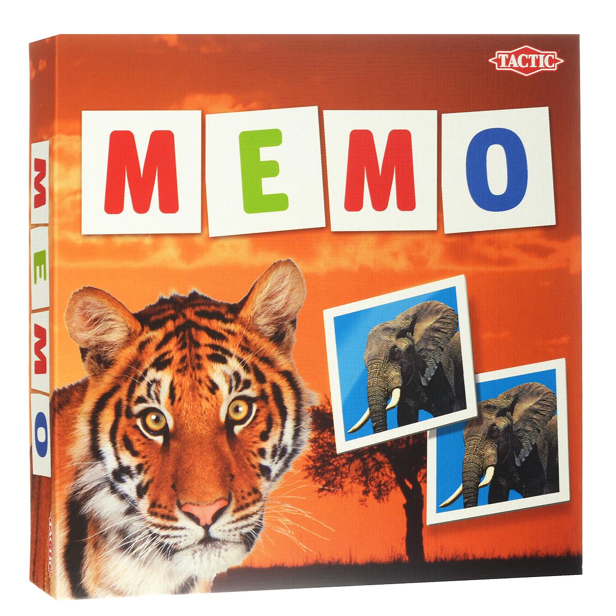 Настольная игра Tactic Games Мемо. Дикие животные41441Настольная игра Мемо. Дикие животные от Tactic Games понравится любознательным малышам, ведь она познакомит их с различными дикими животными. Красочные карточки с картинками можно просто рассматривать, изучать разнообразие животного мира. А можно сразиться с соперником на скорость и наблюдательность. Игра заключается в открывании парных картинок. Для начала нужно положить на стол все карточки лицевой стороной вниз. Каждый игрок должен открывать только 2 карты за 1 ход. Если картинки на карточках совпали, то игроку можно сделать следующий ход, если нет - то очередь ходить теперь у следующего. Выигрывает тот игрок, который откроет наибольшее количество пар. В процессе игры малыши получат отличную тренировку памяти, внимания и наблюдательности. А соревновательный момент придаст игре оживление и скорость. Изучайте транспортные средства вместе с игрой Мемо. Дикие животные и получайте хорошее настроение! Возраст игроков: от 3 лет и старше. Количество...
