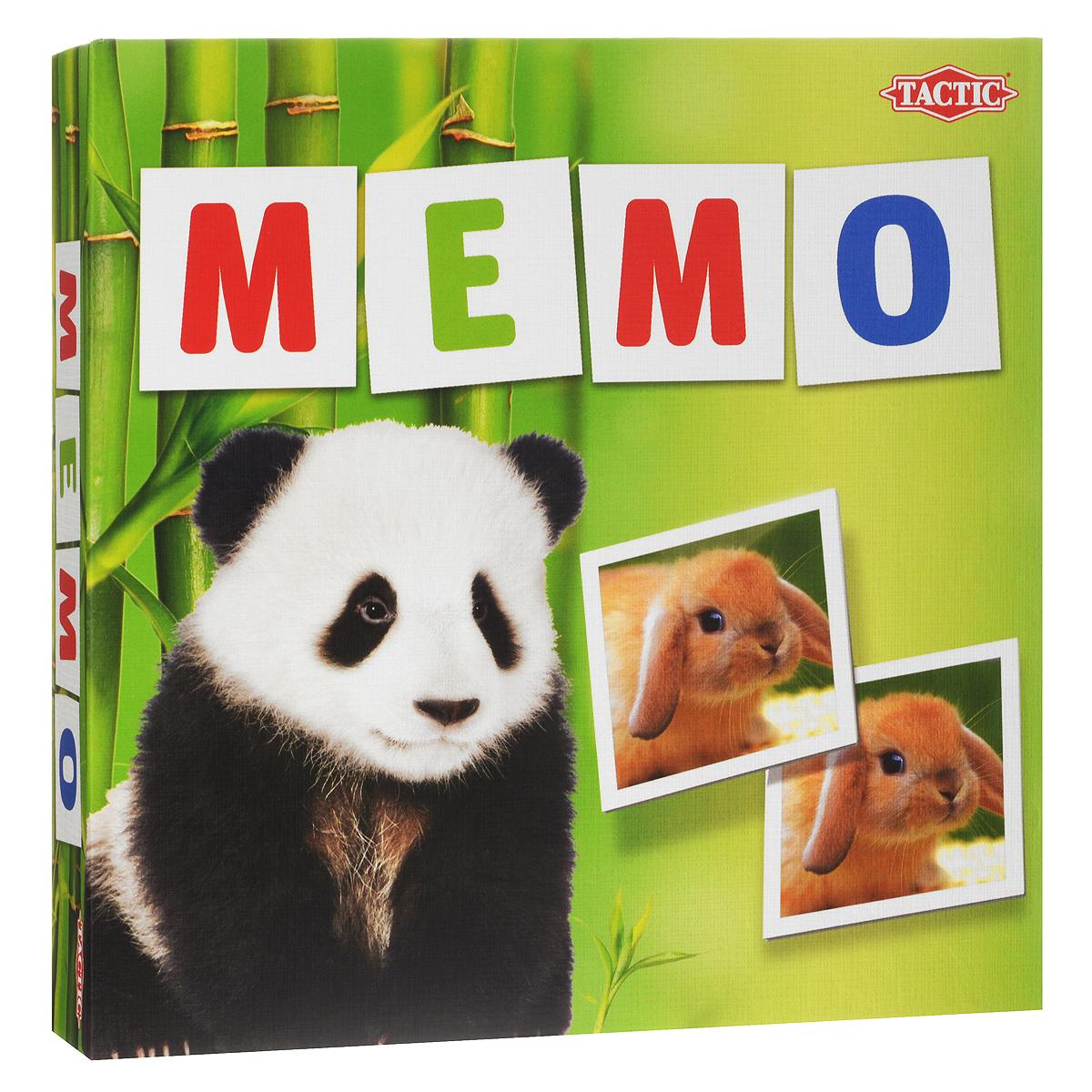 Настольная игра Tactic Games Мемо. Зверята52676Настольная игра Мемо. Зверята от Tactic Games понравится любознательным малышам, ведь она познакомит их с различными дикими животными. Малыши сначала могут просто рассматривать красивые фотографии забавных молодых зверят, изображенные на карточках. Карточки выполнены из высококачественного прочного картона, на который нанесено изображение. Сверху все это покрыто полимерной пленкой, которая защитит картинки от старения. Игра заключается в открывании парных картинок. Для начала нужно положить на стол все карточки лицевой стороной вниз. Каждый игрок должен открывать только 2 карты за 1 ход. Если картинки на карточках совпали, то игроку можно сделать следующий ход, если нет - то очередь ходить теперь у следующего. Выигрывает тот игрок, который откроет наибольшее количество пар. В процессе игры малыши получат отличную тренировку памяти, внимания и наблюдательности. А соревновательный момент придаст игре оживление и скорость. Изучайте транспортные средства...