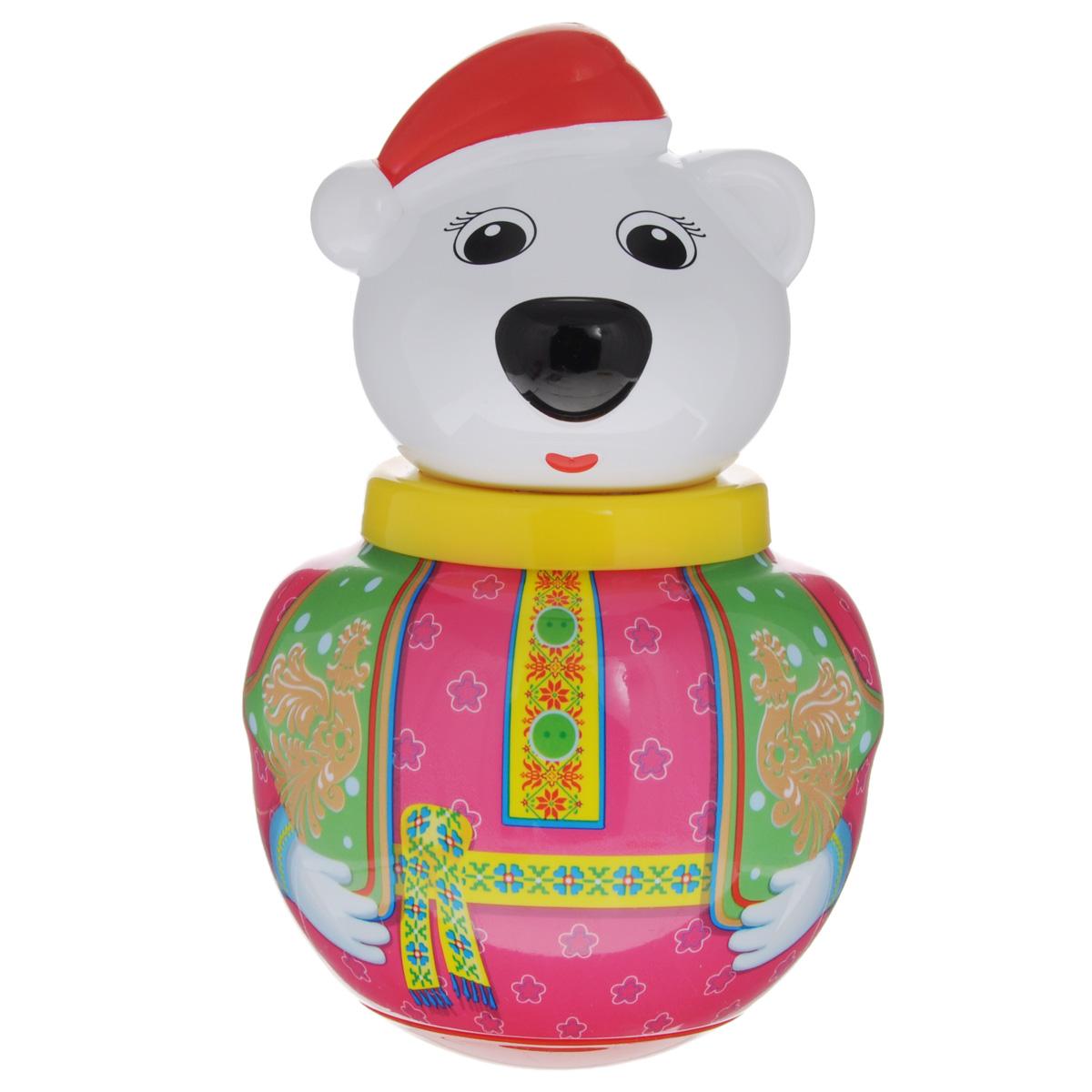 Неваляшка Stellar Белый медведь Тёма, 16 см, в ассортименте01739Неваляшка Stellar Белый медведь Тёма привлечет внимание вашего малыша и не позволит ему скучать. Игрушка выполнена из пластика в виде симпатичного медведя. Неваляшка всегда возвращается в вертикальное положение, забавно покачиваясь под приятный звук бубенчиков и развлекая малыша. Неваляшка развивает мелкую моторику, координацию, слух и цветовое восприятие. УВАЖАЕМЫЕ КЛИЕНТЫ! Обращаем ваше внимание на возможные изменения в дизайне игрушки.