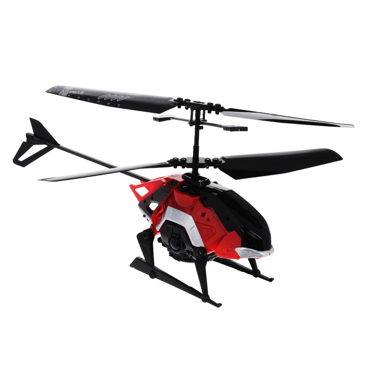Silverlit Вертолет на радиоуправлении Heli Combat цвет красный84681Если малыш любит играть в войну, принимать участие в военных атаках или ему просто нравятся оригинальные игрушки, то ему обязательно понравится радиоуправляемая модель Silverlit Боевой вертолет Heli Combat. Каркас вертолета выполнен из пластика с использованием металла. Вертолет имеет двухканальное дистанционное управление и идеально подходит для игры как внутри помещения, так и на улице. К игрушке в комплекте идет три насадки - с помощью одной можно начать стрелять по противнику, выпуская ракеты, вторая насадка предусматривает прикрепление волчка, который сбрасывается во время полета и крушит все на своем пути, а если необходимо перевезти груз, крепится третья насадка, и военный транспорт превращается в грузовой. Зарядка аккумулятора осуществляется от USB-провода или пульта управления. Ребенок может управлять моделью и поднимать ее в воздух, совершать повороты вправо и влево, стрелять из гранатомета и кидать волчки, перевозить грузы. Вперед игрушка движется за...