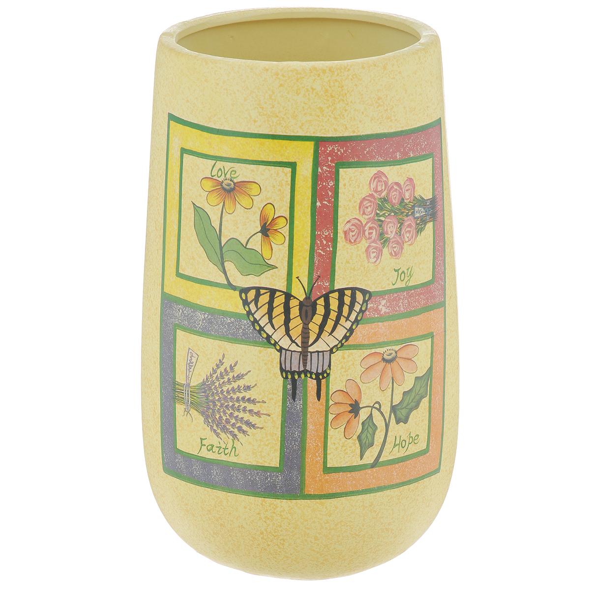 Ваза Lillo Цветы, высота 24,5 смLIL 3184Элегантная ваза Lillo Цветы выполнена из высококачественной керамики и декорирована рисунком. Она придется по вкусу и ценителям классики, и тем, кто предпочитает утонченность и изящность. Вы можете поставить вазу в любом месте, где она будет удачно смотреться и радовать глаз. Такая ваза подойдет и для цветов, и для декора интерьера. Кроме того - это отличный вариант подарка для ваших близких и друзей. Высота вазы: 24,5 см.