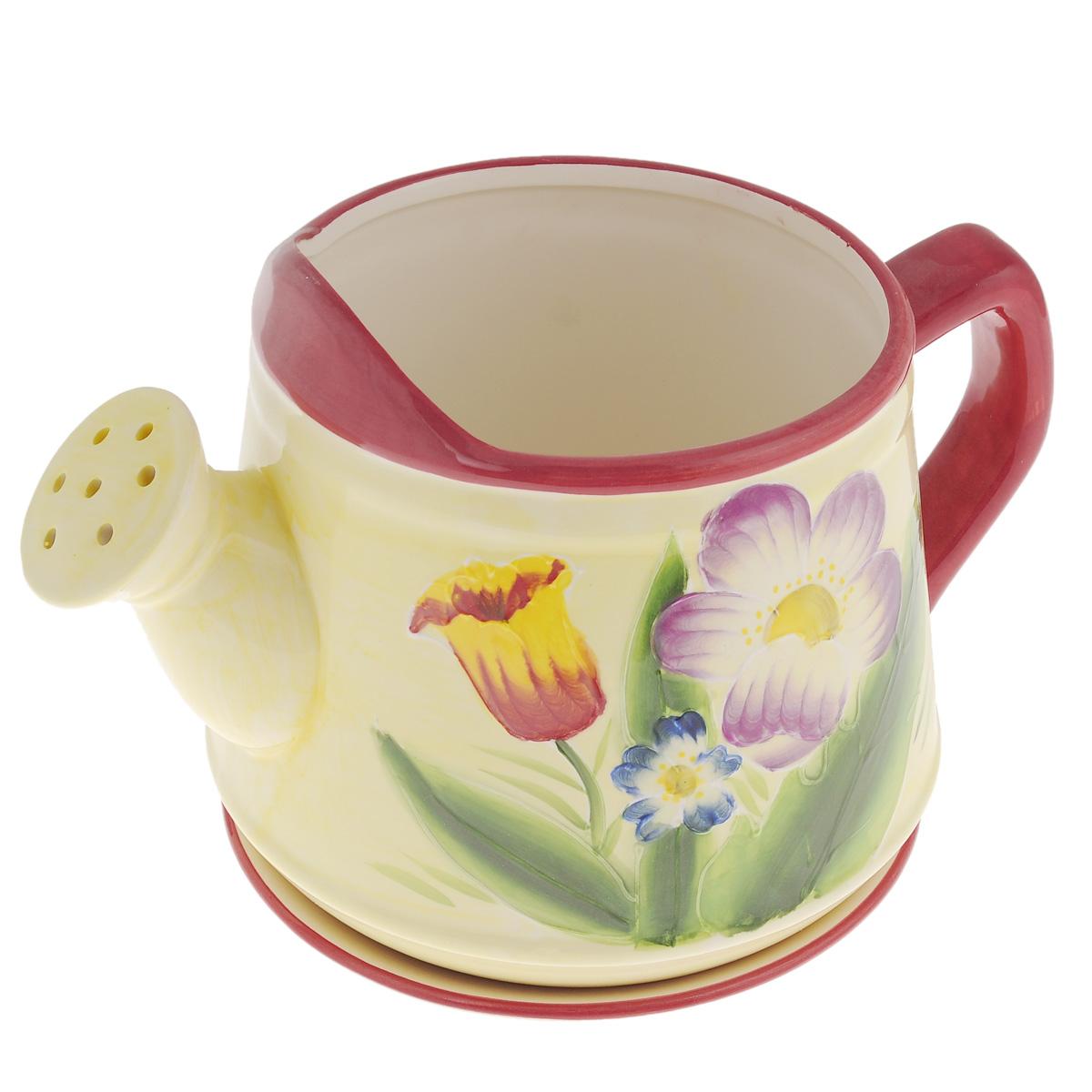 Кашпо Lillo Лейка, с поддоном. XY10S009DXY10S009DКашпо-горшок для цветов Lillo Лейка выполнен из прочной керамики и декорирован красочным рисунком. Изделие предназначено для цветов. Такие изделия часто становятся последним штрихом, который совершенно изменяет интерьер помещения или ландшафтный дизайн сада. Благодаря такому кашпо вы сможете украсить вашу комнату, офис, сад и другие места. Изделие оснащено специальным поддоном - блюдцем. Диаметр кашпо по верхнему краю: 15,5 см. Высота кашпо (без учета поддона): 19 см. Диаметр поддона: 20,5 см.