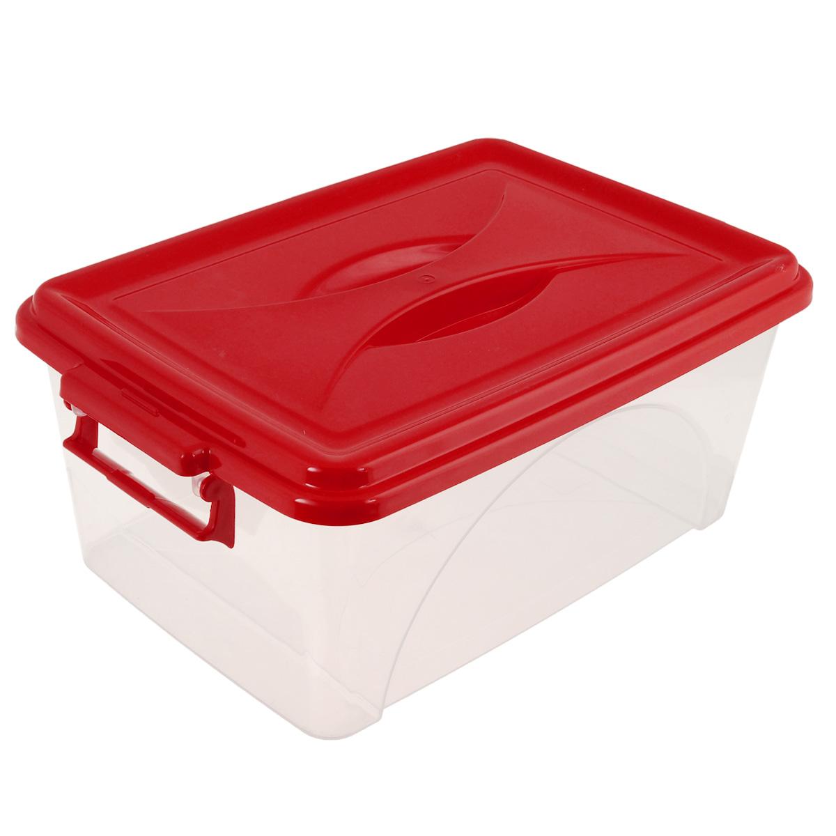 Контейнер Альтернатива, цвет: красный, 7,5 лМ428Контейнер Альтернатива выполнен из прочного пластика. Он предназначен для хранения различных мелких вещей. Крышка легко открывается и плотно закрывается. Прозрачные стенки позволяют видеть содержимое. По бокам предусмотрены две удобные ручки, с помощью которых контейнер закрывается. Контейнер поможет хранить все в одном месте, а также защитить вещи от пыли, грязи и влаги.