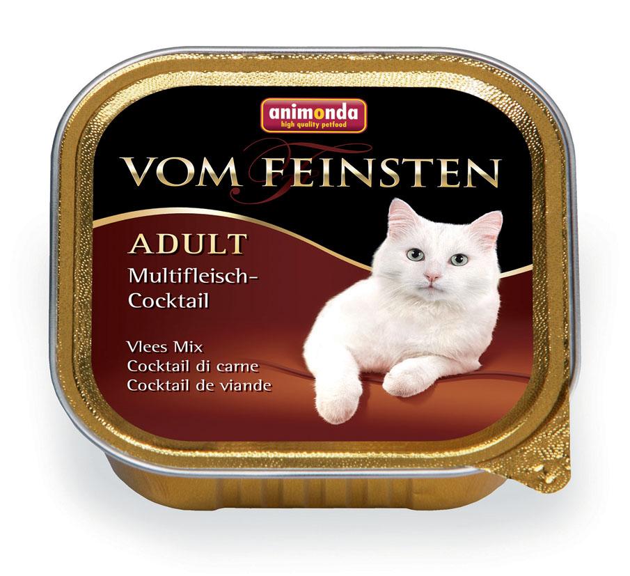Консервы Animonda Vom Feinsten для взрослых кошек, с мясным коктейлем, 100 г25006Влажные корма Animonda Vom Feinstenсодержат отборные сорта мяса, комбинированные со специальными ингредиентами. Консервы - восхитительная еда, которая обещает много удовольствия и ценится кошачьими гурманами во всем мире, это линия полноценных сбалансированных консервированных кормов, которая удовлетворит запросы самых требовательных кошек. Состав: мясо и мясные продукты 63% (говядина 23%, ягненок 10%, индейка 10%, курица 10%, кролик 10%), бульон, минералы. Анализ: белок 11%, жир 5%, клетчатка 0,3%, зола 1,6%, влажность 81%. Добавки (на 1 кг продукта): витамин D3 200 МЕ, витамин Е (a-токоферол) 30 мг. Вес: 100 г. Товар сертифицирован.