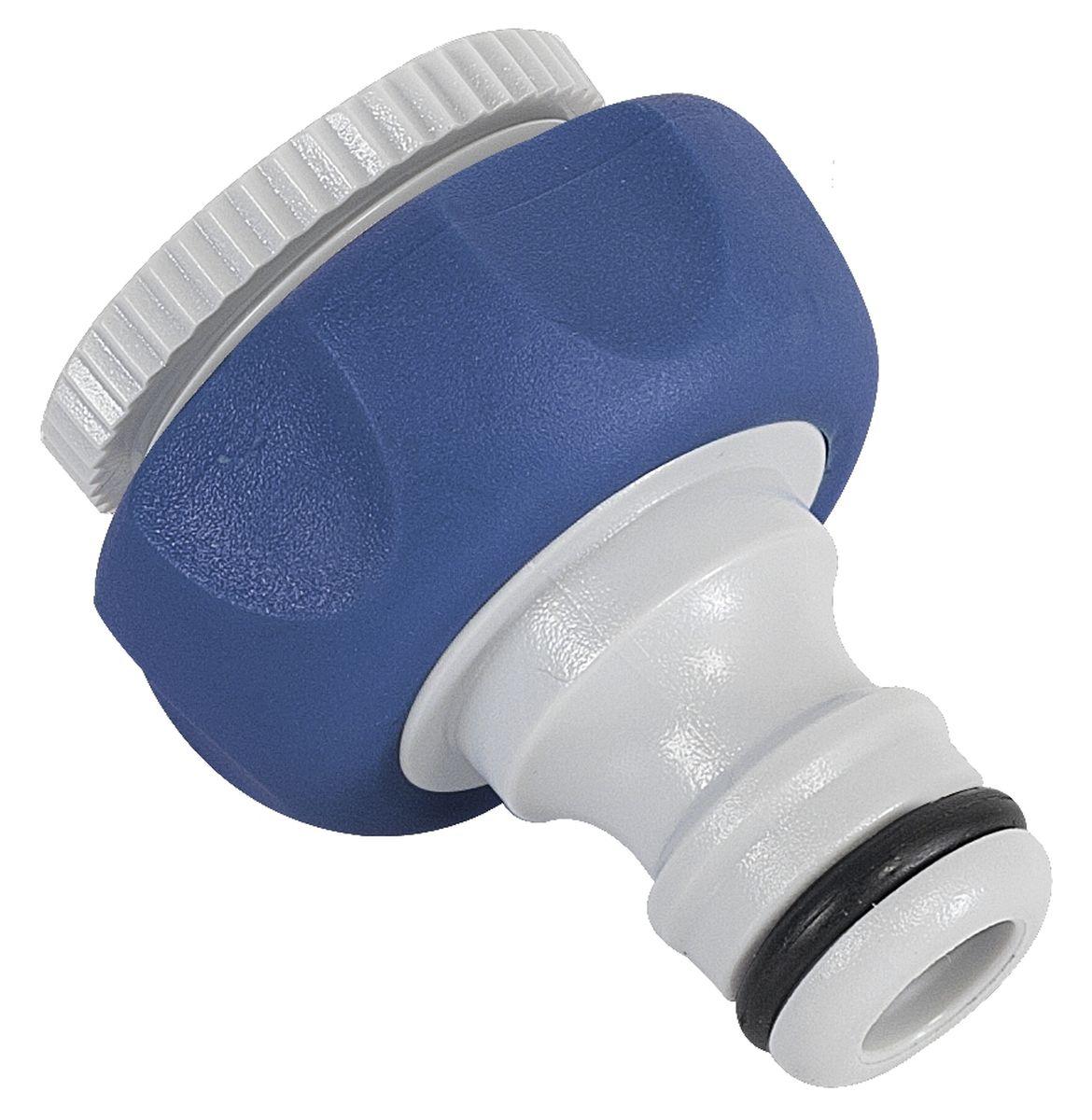 Штуцер резьбовой Green Apple, с переходником, диаметр 12 мм - 19 ммGWTA20-055Резьбовой штуцер Green Apple изготовлен из высококачественного прочного пластика и термопластичной резины. Штуцер предназначен для соединения шлангов и насадок с кранами, имеющими внешнюю резьбу. В комплекте - дополнительный переходник. Диаметр: 1/2, 3/4.