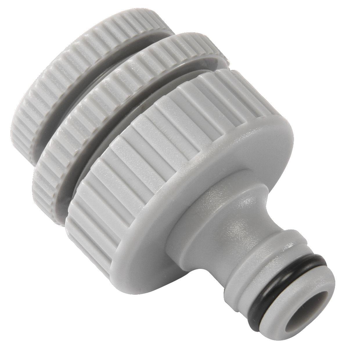 Штуцер резьбовой Green Apple, с переходниками, диаметр 12 мм - 19 мм - 25 ммGWTA50-056Резьбовой штуцер Green Apple изготовлен из высококачественного прочного ABS-пластика. Штуцер предназначен для соединения шлангов и насадок с кранами, имеющими внешнюю резьбу. В комплекте - 2 переходника разного диаметра. Диаметр: 1/2, 3/4, 1.