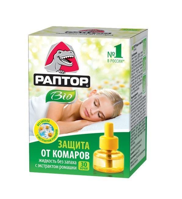"""Жидкость от комаров Раптор """"Bio"""", с экстрактом ромашки, 20 мл, 30 ночей G1290"""