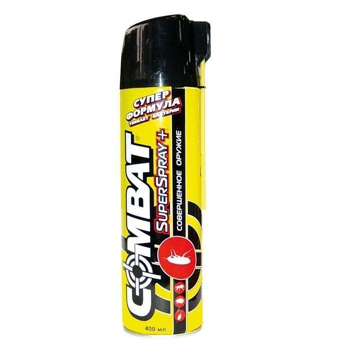 Аэрозоль от насекомых Combat Super Spray Plus , 400 млHKL 76190Аэрозоль Combat Super Spray Plus эффективно уничтожает тараканов и их кладку, клопов, блох, древоточцев, кожеедов, клещей, пауков, муравьев, личинок моли. Также средство снижает количество бактерий и плесени на поверхности. Аэрозоль оснащен гибкой насадкой на распылителе, которая позволяет уничтожать насекомых даже в труднодоступных местах: в щелях вдоль плинтусов и за дверными коробками, в стенах и на кафеле. Кроме этого, использование насадки позволит вам аккуратно распылить средство, избегая попадания на обои, ткань или бытовую технику.