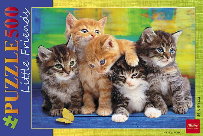 Дружные котята. Пазл, 500 элементов500ПЗ2_08372Пазлы на 500 элементов рассчитаны на взрослую аудиторию. Собирать большое количество элементов интересно и увлекательно. Собранная картина смотрится привлекательно и отлично может украсить любое пространство.