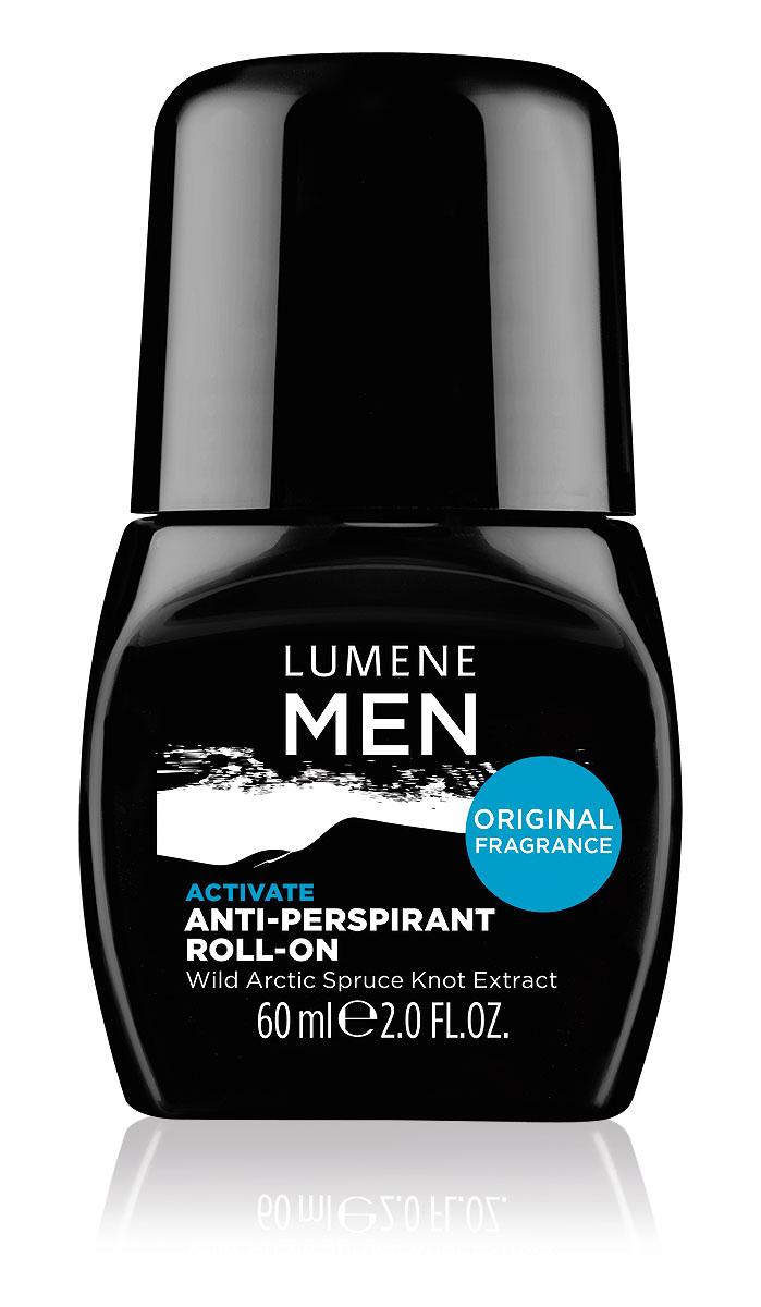 LUMENE Роликовый антиперспирант 24 часа Lumene For Men Activate, 60 мл