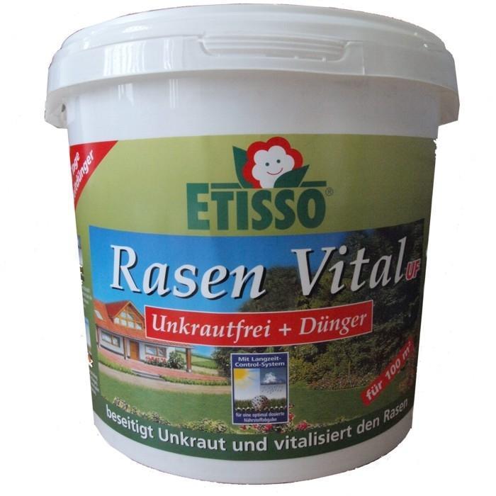 Средство Etisso Rasen Vital UF для цветов и газонов, 3 кг4013441402278Азотно-фосфорно-калийное удобрение пролонгированного действия специально разработано для основного, припосевного внесения и подкормок цветочно-декоративных растений в комнате и зимних садах, на балконе и даче, газонов. Выделение элементов питания пролонгировано, что позволяет обеспечить питание растений в течение 6-8 недель. Удобрение необходимо для полноценного роста и развития растений. Комплексное гранулированное удобрение наполнит ваш газон всеми необходимыми питательными веществами и микроэлементами в течение 100 дней и уничтожит сорняки. Etisso Rasen Vital UF высокоэффективное и быстродействующее удобрение с направленным и надежным действием против наносящих вред газону сорняков. Быстрый успех достигается за счет двухкомпонентного действия через листья и корни. Средство идеально сочетает в себе снабжение вашего газона всеми необходимыми питательными веществами и микроэлементами и защиту от имеющихся сорняков в течение 2-3 месяцев. Результатом чего является здоровый...