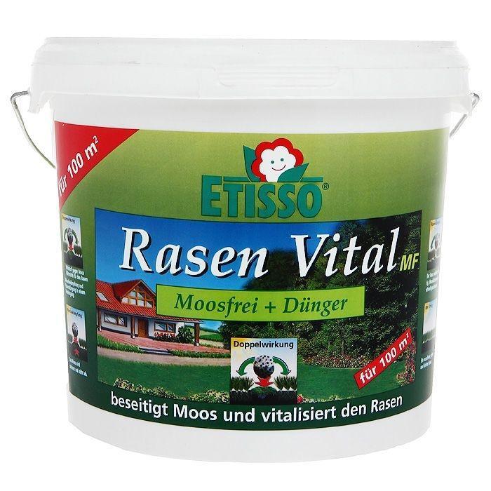 Средство Etisso Rasen Vital MF для цветов и газонов, 3 кг4013441402254Азотно-фосфорно-калийное удобрение пролонгированного действия специально разработано для основного, припосевного внесения и подкормок цветочно-декоративных растений в комнате и зимних садах, на балконе и даче, газонов. Выделение элементов питания пролонгировано, что позволяет обеспечить питание растений в течение 6-8 недель. Удобрение необходимо для полноценного роста и развития растений. Etisso Rasen Vital MF высокоэффективное и быстродействующее удобрение с направленным и надежным действием против наносящего вред газону мха. Средство идеально сочетает в себе снабжение вашего газона всеми необходимыми питательными веществами (азотом и магнием) и микроэлементами и защиту от имеющегося мха. Результатом чего является здоровый зеленый газон, который в будущем успешно противостоит нашествию мха. Для долговременного действия мы советуем устранить причины появления мха: недостаток питательных элементов; недостаток света; вытоптанные поверхности; большая влажность (в затемненных и...