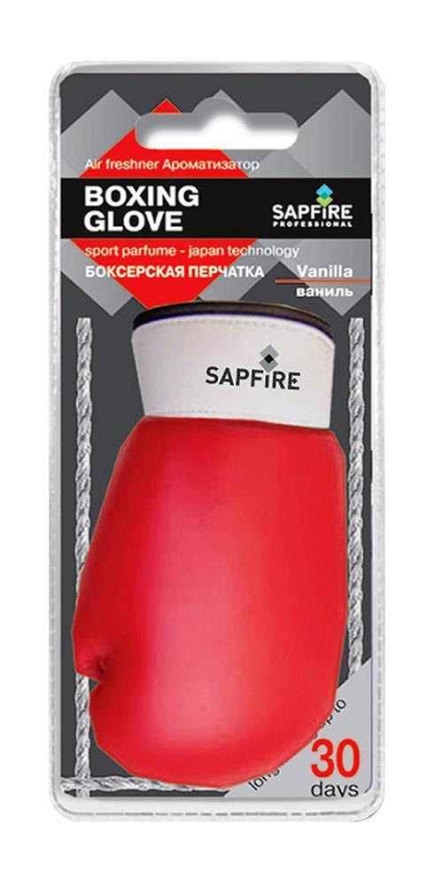Ароматизатор для салона автомобиля Sapfire Boxing Glove, ваниль20601-SATПодвесной ароматизатор для салона автомобиля Sapfire Boxing Glove имеет приятный аромат ванили. Ароматизатор, выполненный из искусственной кожи в виде борцовской перчатки, предназначен для автомобиля, а также для небольших помещений. Аромат держится до 30 дней. Boxing Glove - новое поколение концентрированных ароматизаторов. Парфюмерная композиция произведена в Японии. Обеспечивает стойкий насыщенный аромат и стойкий запах. Состав: искусственная кожа, гранулы, парфюмерная композиция высокой концентрации, стабилизатор. Размер ароматизатора: 10 см х 5 см х 4 см.