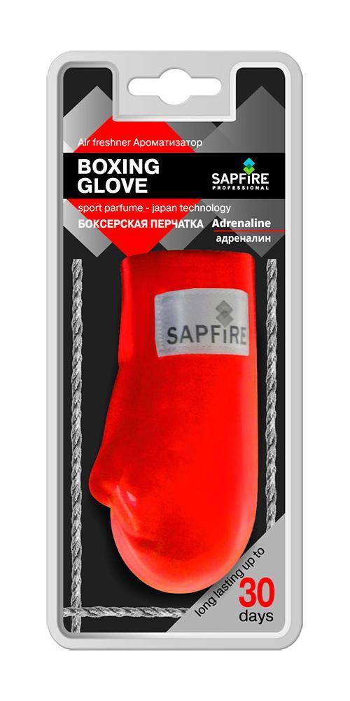 Ароматизатор для салона автомобиля Sapfire Boxing Glove, адреналин20603-SATПодвесной ароматизатор для салона автомобиля Sapfire Boxing Glove имеет приятный аромат. Ароматизатор, выполненный из искусственной кожи в виде борцовской перчатки, предназначен для автомобиля, а также для небольших помещений. Аромат держится до 30 дней. Boxing Glove - новое поколение концентрированных ароматизаторов. Парфюмерная композиция произведена в Японии. Обеспечивает стойкий насыщенный аромат и стойкий запах. Состав: искусственная кожа, гранулы, парфюмерная композиция высокой концентрации, стабилизатор. Размер ароматизатора: 10 см х 5 см х 4 см.