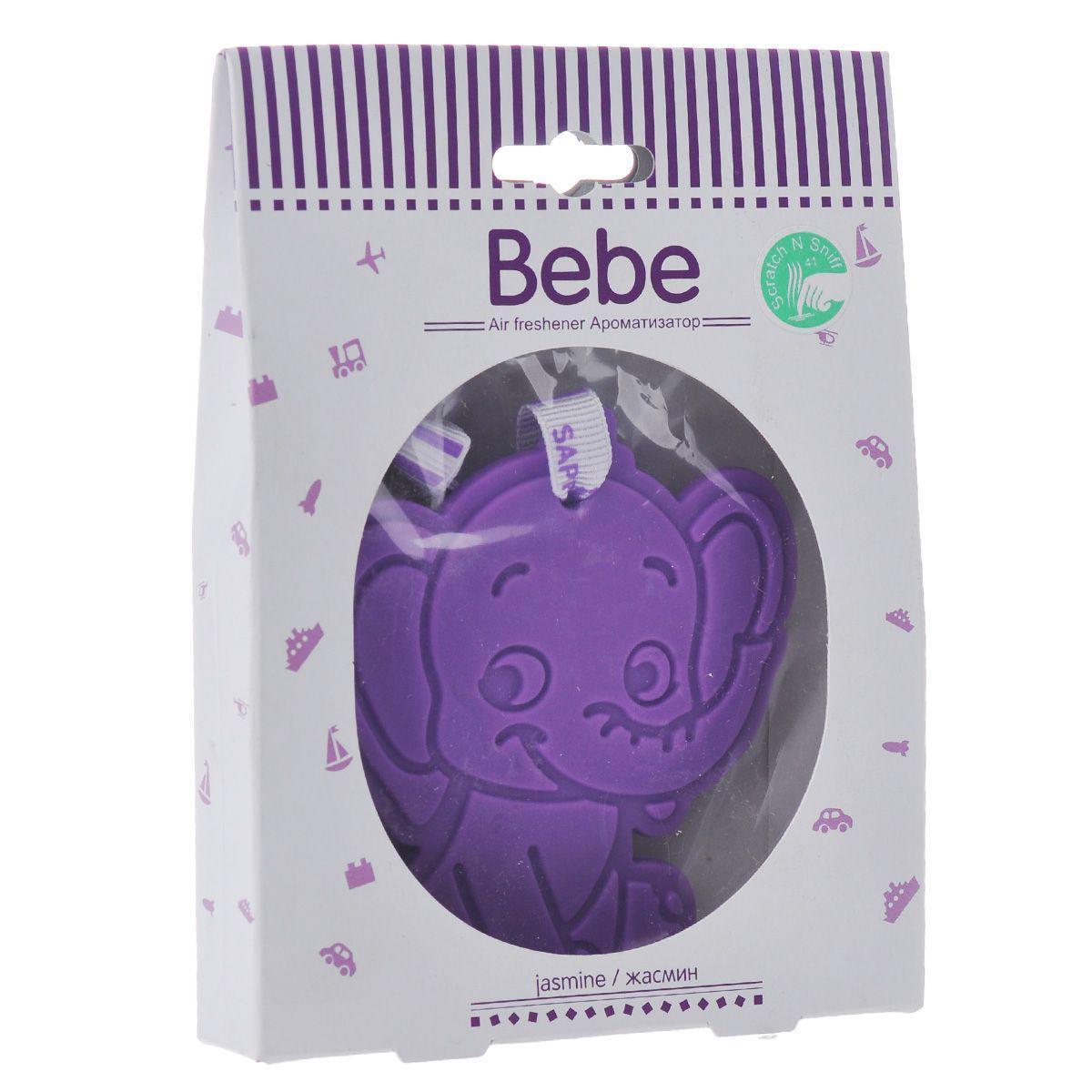 Ароматизатор Sapfire Bebe, жасминSAA-07942Подвесной ароматизатор для салона автомобиля Sapfire Bebe имеет приятный аромат. Ароматизатор представляет собой забавную игрушку, пропитанную парфюмерной композицией. Состав: пластик, парфюмерная композиция. Размер ароматизатора: 8 см х 8,5 см х 0,3 см.