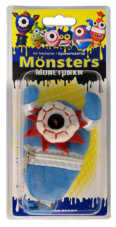 Ароматизатор для салона автомобиля Sapfire Monsters, дикая ягодаSAT-20681Подвесной ароматизатор для салона автомобиля Sapfire Monsters имеет приятный аромат. Ароматизатор представляет собой забавную текстильную игрушку, пропитанную ароматическими маслами. Monsters - новая забавная серия игрушек-ароматизаторов. Приятные стойкие ароматы и забавные монстрики создадут позитивную атмосферу в автомобиле и сделают дорогу веселее. Состав: полимеры, ароматические масла, текстиль, пластик, металл. Размер ароматизатора: 13 см х 7 см х 3,5 см.