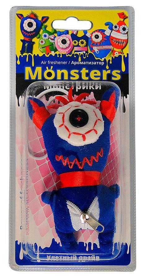 Ароматизатор для салона автомобиля Sapfire Monsters, тутти-фруттиSAT-20684Подвесной ароматизатор для салона автомобиля Sapfire Monsters имеет приятный аромат. Ароматизатор представляет собой забавную текстильную игрушку, пропитанную ароматическими маслами. Monsters - новая забавная серия игрушек-ароматизаторов. Приятные стойкие ароматы и забавные монстрики создадут позитивную атмосферу в автомобиле и сделают дорогу веселее. Состав: полимеры, ароматические масла, текстиль, пластик, металл. Размер ароматизатора: 13 см х 7 см х 3,5 см.