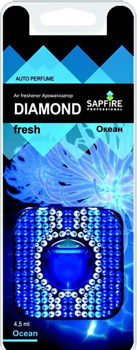Ароматизатор в дефлектор Sapfire Diamond Fresh, океан07761-SAAАвтомобильный освежитель воздуха Sapfire Diamond Fresh имеет приятный аромат океана. Ароматизатор, изготовленный с использованием современной мембранной технологии, - это безопасно, удобно и гарантирует длительную работу, без риска пролить жидкое содержимое. Корпус ароматизатора квадратной формы, выполнен из пластика и украшен цветными стразами. Крепится ароматизатор на дефлектор в автомобиле. Состав: парфюмерная композиция, гель, пластик, алюминиевая фольга. Размер ароматизатора: 5,5 см х 5,5 см х 1 см.