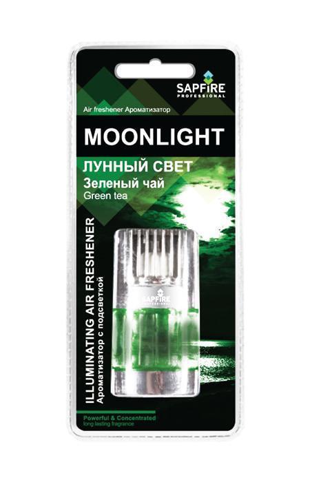 Ароматизатор с подсветкой в дефлектор Sapfire Moonlight, зеленый чай20053-SATАвтомобильный ароматизатор Sapfire Moonlight имеет приятный аромат. Ароматизатор, выполненный из пластика и стекла, вставляется в дефлектор машины. Подсветка работает от батарейки CR2032H (3V). Для включения подсветки необходимо перевести выключатель в положение вкл. Регулятор на крышке позволяет изменить интенсивность аромата. Moonlight - новое поколение концентрированных ароматизаторов. Парфюмерная композиция произведена в Японии. Обеспечивает стойкий насыщенный аромат и свежий запах. Состав: пластик, парфюмерная композиция высокой концентрации, стабилизатор. Размер ароматизатора: 7,5 см х 4 см х 2 см.