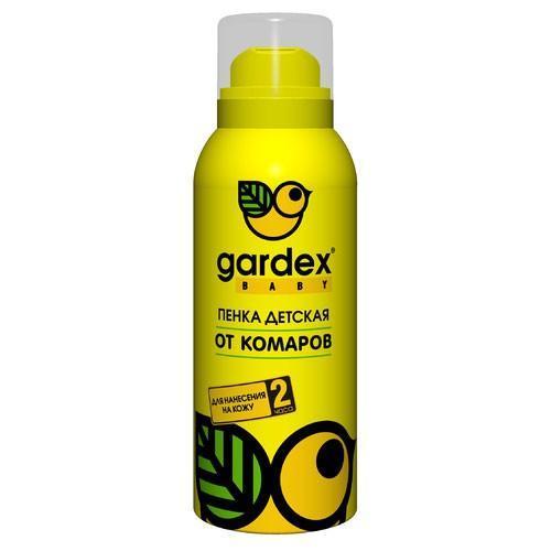 Пенка от комаров Gardex Baby, 75 мл0139Пенка от комаров для детей от 2 лет защищает в течение 2 часов. Приятная текстура - воздушная пенка с нежным ароматом. Теперь нанесение репеллентного средства можно превратить в игру.