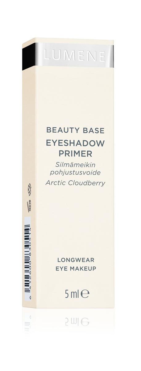 LUMENE База для макияжа век, 5 млNL34-83051• Для всех типов кожи. • База выравнивает кожу век для идеального и стойкого макияжа. • Обеспечивает ровное нанесение теней, карандашей, подводок. • Макияж глаз сохраняется в безупречном состоянии на протяжении всего дня. • Содержит масло семян арктической морошки, которое заряжает энергией, придаёт свежесть, увлажняет, ускоряет процессы регенерации, улучшает цвет кожи. 1 универсальный оттенок.