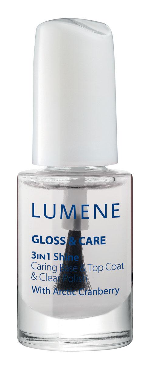 LUMENE Средство Lumene Gloss & Care 3в1: ухаживающая основа + закрепляющее покрытие + сияющий блеск, 5 млNL372-84454LUMENE GLOSS & CARE 3-IN-1 SHINE CARING BASE & TOP COAT СРЕДСТВО LUMENE GLOSS & CARE 3В1: УХАЖИВАЮЩАЯ ОСНОВА+ ЗАКРЕПЛЯЮЩЕЕ ПОКРЫТИЕ+СИЯЮЩИЙ БЛЕСК С маслом семян арктической клюквы Применение: возможно использование в качестве блестящего прозрачного лака, а также базы или закрепляющего покрытия для лака.