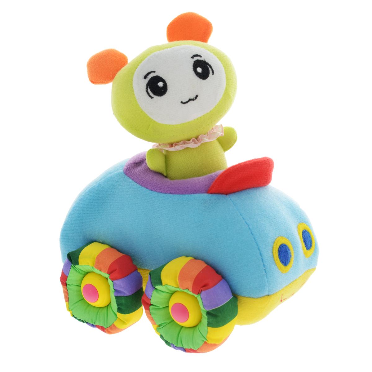 Мягкая озвученная игрушка Tongde Радужный транспорт, с фигуркой. В72426В72426Мягкая озвученная игрушка Tongde Радужный транспорт с фигуркой непременно понравится вашему малышу! Эта милая мягкая машинка подарит вашему ребенку массу удовольствия за игрой. В комплект также входит забавная мягкая фигурка, которую можно посадить в машинку. Изделие выполнено из высококачественного гипоаллергенного текстильного материала. Движение игрушки сопровождается звуковыми эффектами. С игрушкой можно играть как дома, так и в садике. Данная модель способствует развитию воображения и тактильной чувствительности у детей. Ваш ребенок часами будет играть с моделью, придумывая различные истории. Порадуйте его таким замечательным подарком! УВАЖАЕМЫЕ КЛИЕНТЫ! Обращаем ваше внимание на тот факт, что для работы игрушки необходимо докупить 3 батарейки типа АА 1,5V (в комплект не входят).