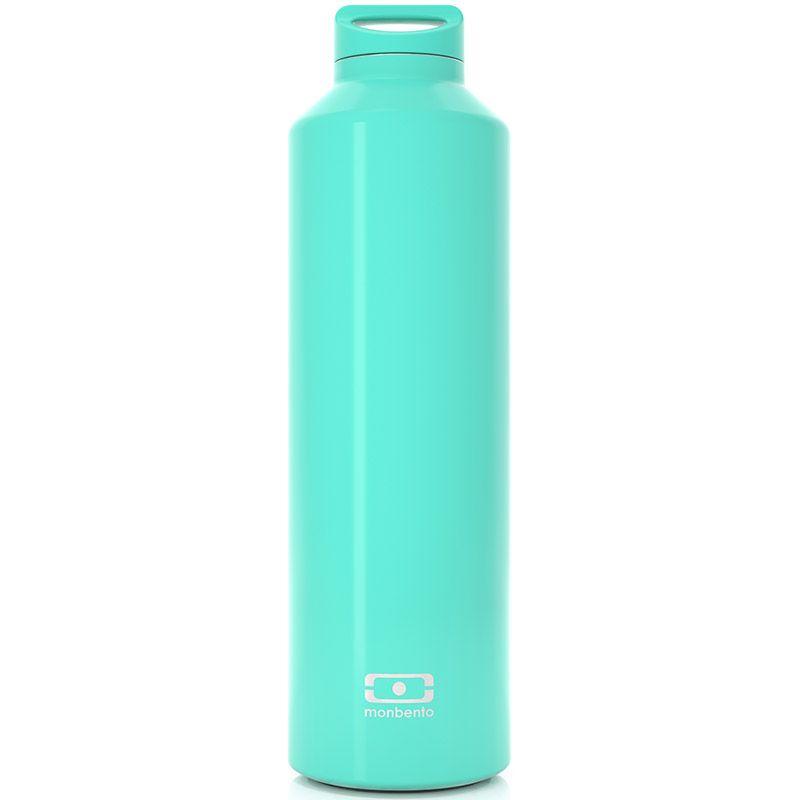 Бутылка-термос Monbento Steel, цвет: мятный, 500 мл4011 01 055Monbento Steel - это бутылка с термоизоляцией для ежедневных и экстраординарных приключений! Она изготовлена из нержавеющей стали с цветным наружным покрытием. Она станет надежным компаньоном для бодрящего кофе, горячего чая или полезного смузи. Двойные стенки сохраняют напиток теплым (или холодным) до 12 часов, при этом внешние стенки не нагреваются, бутылку приятно держать в руках. Бутылка герметична, не прольется ни капли. Изготовлена из безопасных материалов без примеси вредного бисфенола А (BPA free). В комплекте заварник для чая, который крепится к крышке и помещается прямо в бутылку. Высота (с учетом крышки): 23,5 см. Диаметр горлышка: 3,5 см.